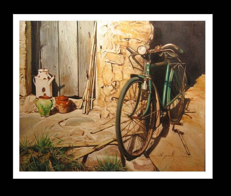 Almazan Realistic Still Life Acrylic Painting - Brown Figurative Painting by Luis Almazan Miquel