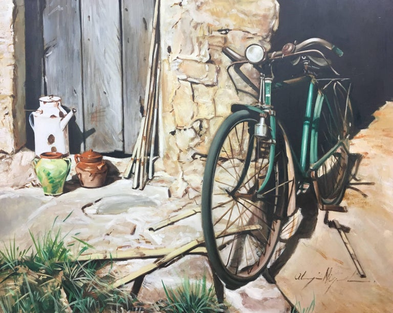 Almazan  Still Life Acrylic Painting - Brown Still-Life Painting by Luis Almazan Miquel