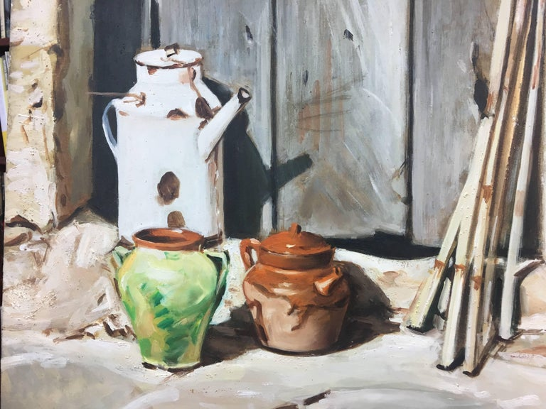 Almazan Realistic Still Life Acrylic Painting   MIQUEL was an artist focused on the art of realism. His structured works on his great mastery of drawing, are romantic and translates us to past times ...