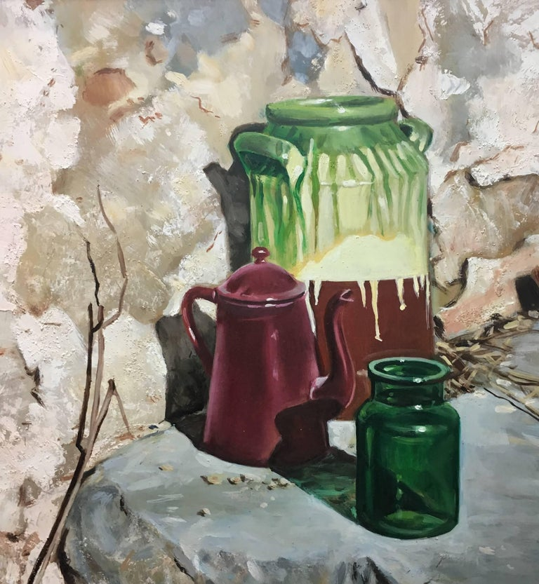 Almazan Realistic Still Life Acrylic Painting For Sale 4