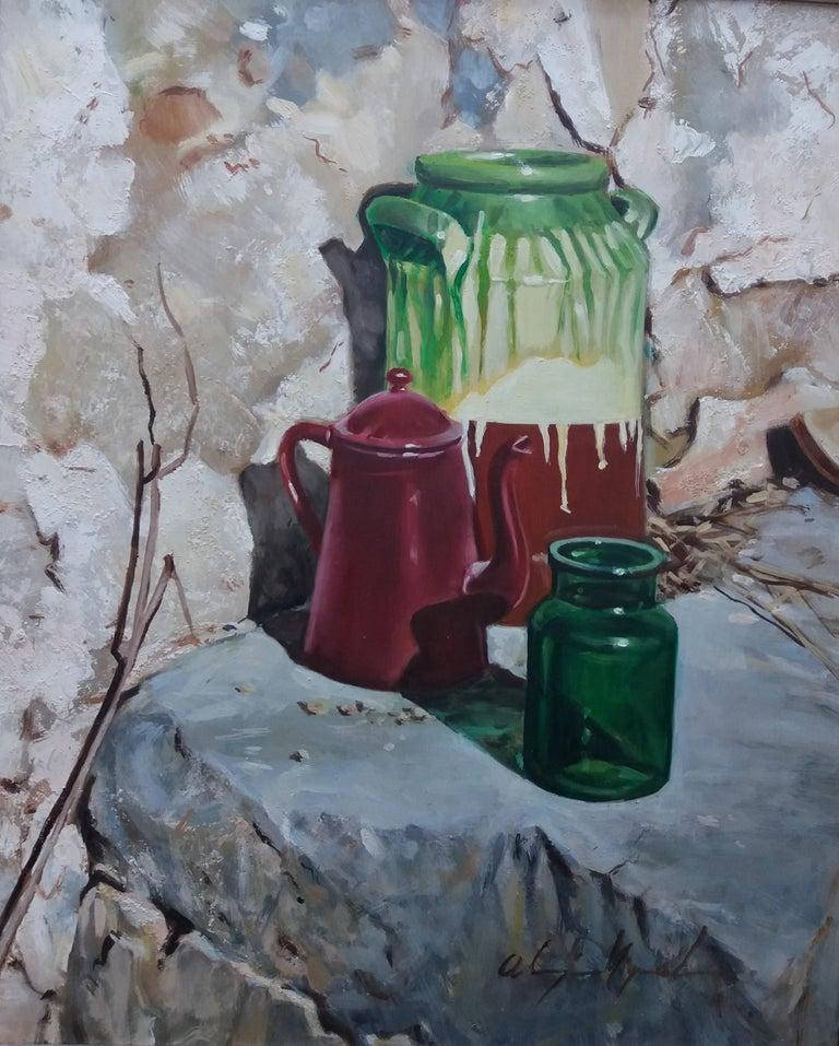 Almazan Realistic Still Life Acrylic Painting For Sale 5