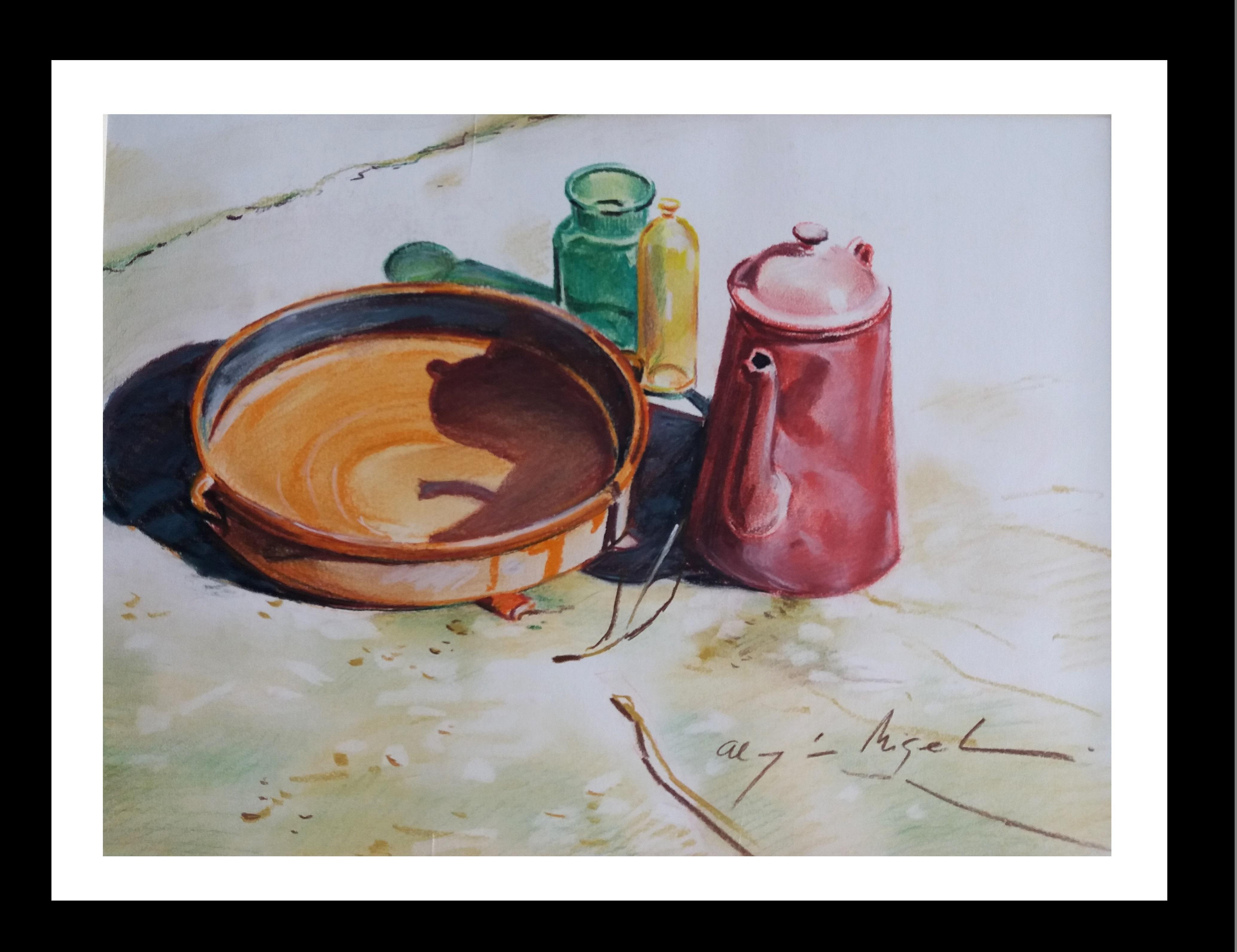 Almazan Realistic Still Life pastel Painting