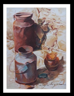 Almazan Realistic Still Life watercolor Painting