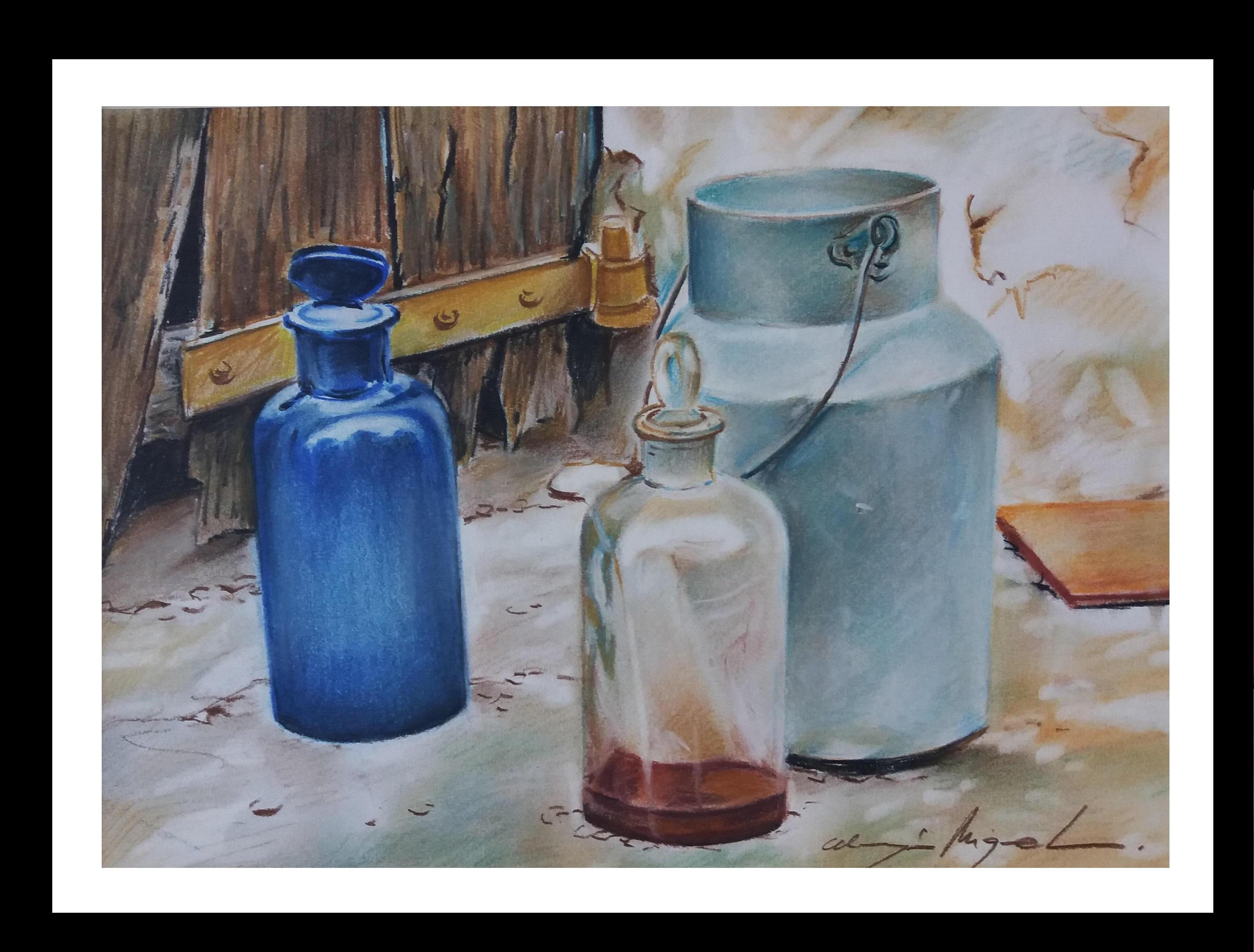 Almazan Realistic Still Life watercolor Painting