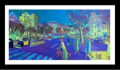 """BARCELONA I"" original expressionist acrylic painting"