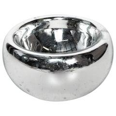 Luis Barragan Large Mercury Glass Silver Bowl Catch All Modern, Mexico, 1960s