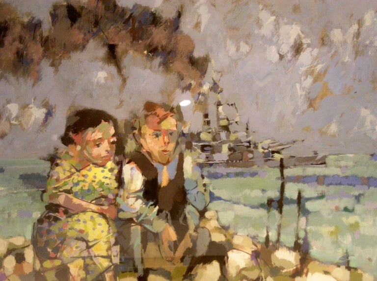 Luis Eades Figurative Painting - Children and War