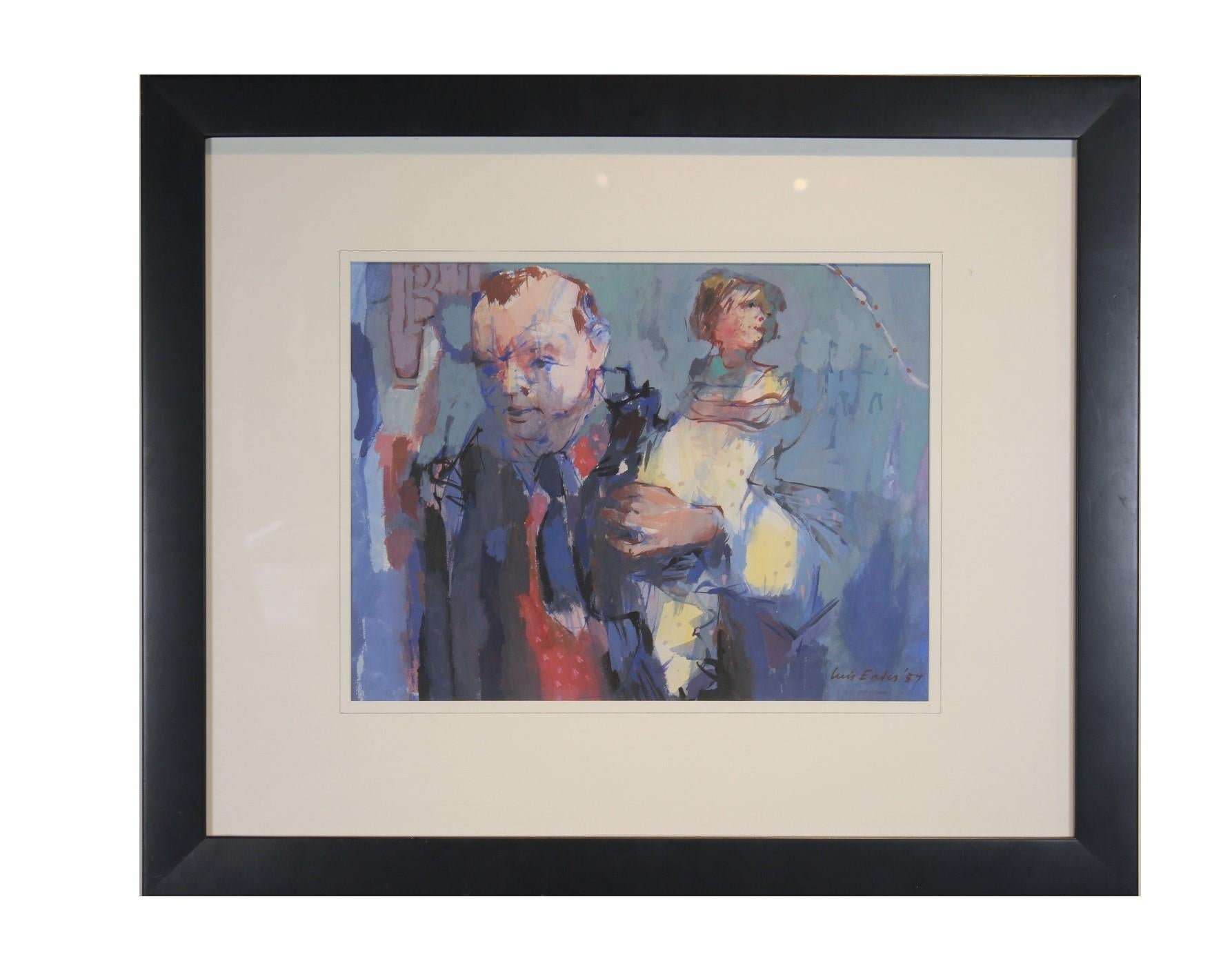 Man with Child - Figurative Abstract