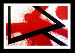 red original engraving limited edition painting