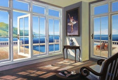 Ballerinas House II original Sea Landscape painting 21st Century