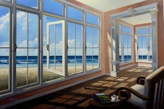 By the Sea original interior Landscape painting contemporary Art