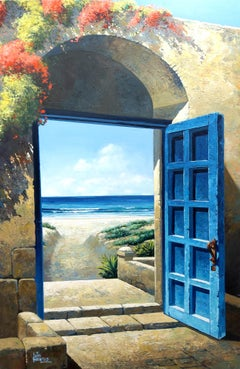 Pathway to the Sea original interior Landscape painting contemporary Art