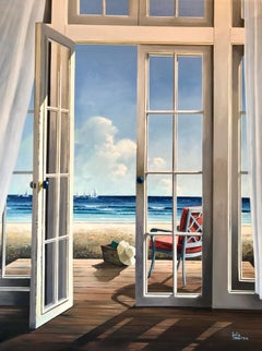 Peaceful Retreat 2 - original seascape painting modern contemporary Art