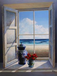 Sunny Afternoon original interior Landscape painting contemporary Art