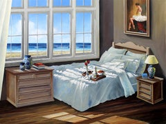 Through the Window original Sea Landscape painting 21st Century