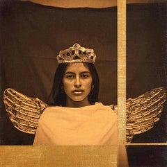 """""""Mobius (Hablo con Labios de Silencio)"""" photograph portrait, woman, wings, crown"""