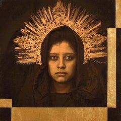 """Mobius (Virginal)"" - photograph portrait, woman with crown"