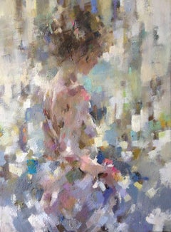 Rosa in the Summer Light - Figurative Nude Painting: Oil on Canvas