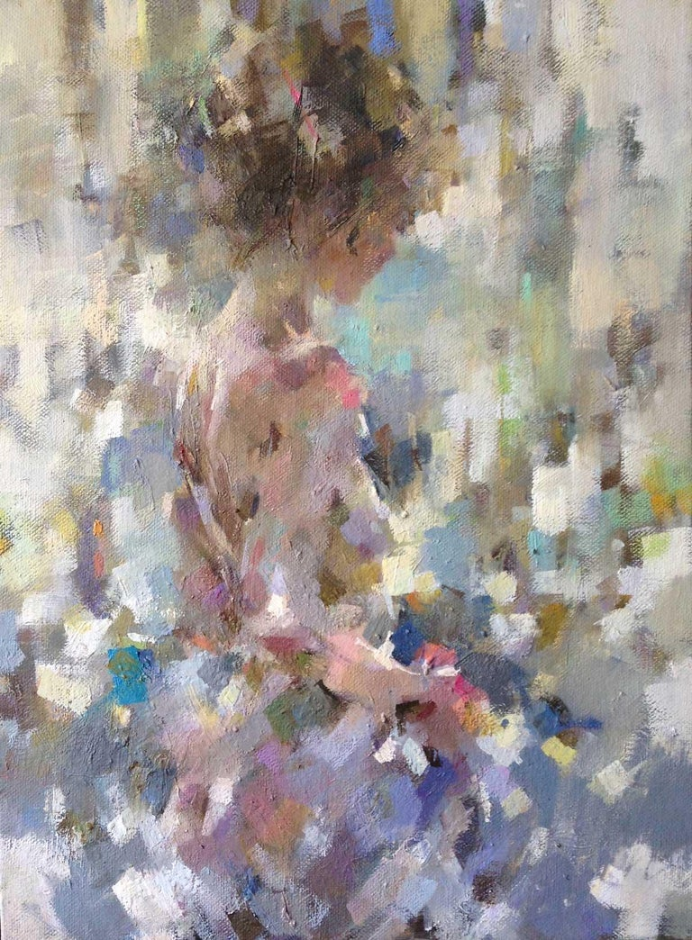 Luis Morris ROI Figurative Painting - Rosa in the Summer Light - Figurative Nude Painting: Oil on Canvas