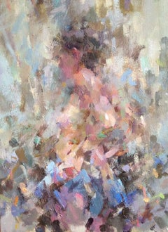 Vittoria, hands on hips - contemporary figurative female nude oil painting