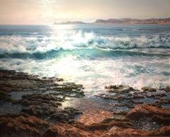 Contemporary Seascape painting 'Evening Shore' by Luis Pardo