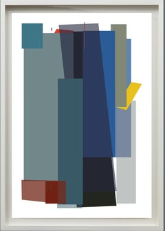 Big Blocks in Blue#1, Venezuelan Artist, Archival print on 100% cotton rag paper