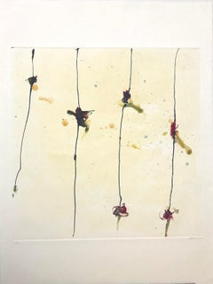 Elevating Knots, Monotype/Paper, 20 x 20, Venezuelan Artist ,MOMA ,Geometric