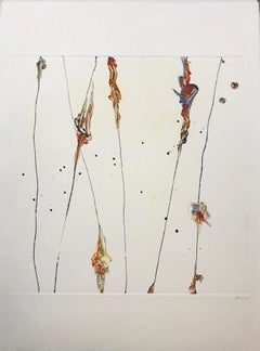 Fire Knots, Monotype/Paper, 20 x 20, Venezuelan Artist ,MOMA ,Geometric