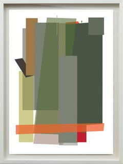 Reflecting w/ an Orange Venezuelan Artist, Archival Print 100%Cotton Rag Paper