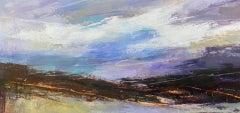Luisa Holden, Purple Moorland Panorama, Affordable Art, Original Painting
