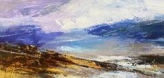 Luisa Holden, Shoreline Sky with Indigo, Original Abstract Landscape Painting