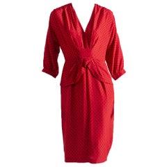 Luisa Spagnoli Vintage Red Dress 1990s