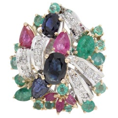 Luise Multistones Cluster Ring