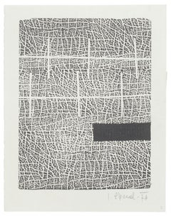Composition - Original Woodcut on Paper by Lujze Spacal - 1976