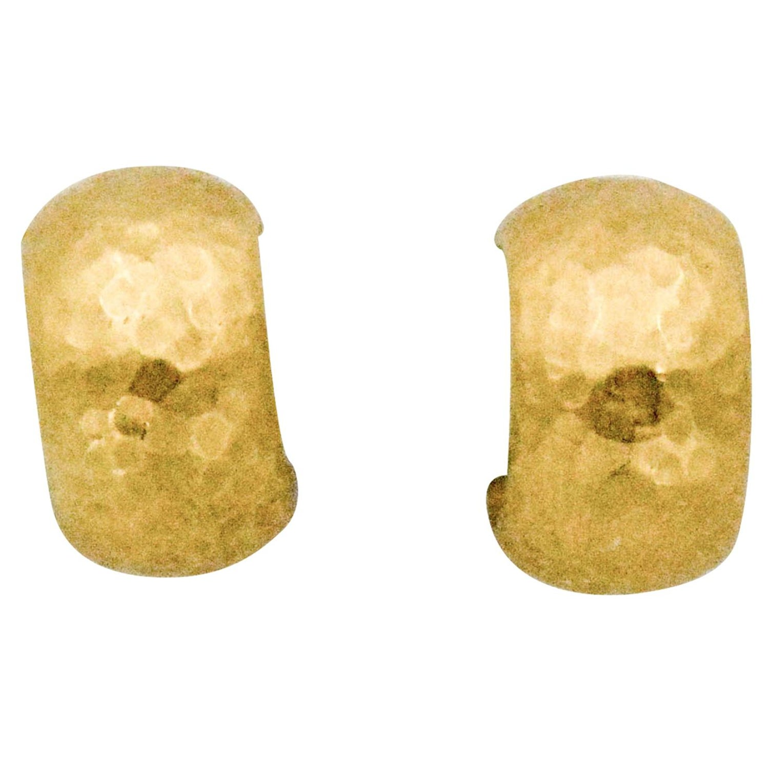 5aa869ef4e482 Luka Behar Hammered 24 Karat Gold Hoop Earrings