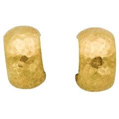 Luka Behar Hammered 24 Karat Gold Hoop Earrings