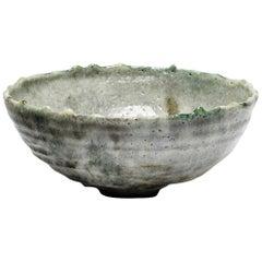 Lukas Richarz Grey and Blue Stoneware Pottery Ceramic Bowl or Basket Handmade