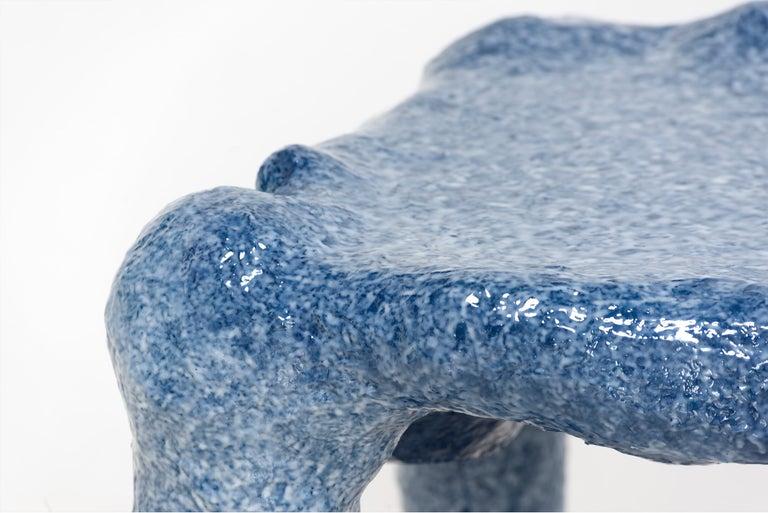 Resin Lukas Saint-Joigny, Contemporary Desk/Table, Blue, Polyurethane, Paris, 2020 For Sale