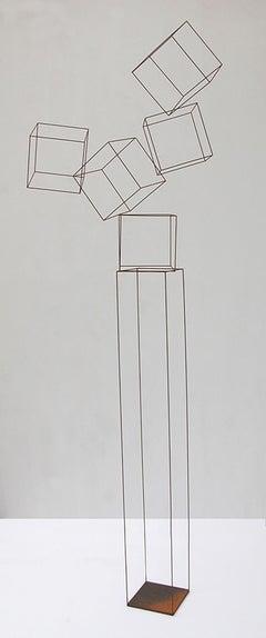 Atracción II - 21st Century, Contemporary Art, Abstract, Iron Sculpture