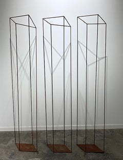 Ilusión I (Triptych) - 21st Century, Contemporary Art, Abstract Sculpture, Iron