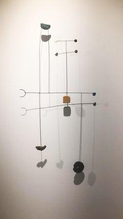 Pequeña Alegría - 21st Century, Contemporary Art, Abstract Sculpture, Iron, Wire
