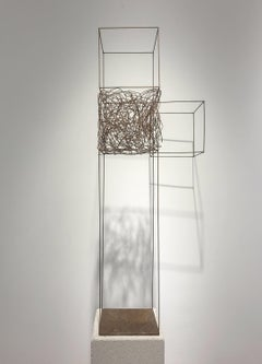 Quid Pro Quo - 21st Century, Contemporary Art, Abstract Sculpture, Iron, Wire