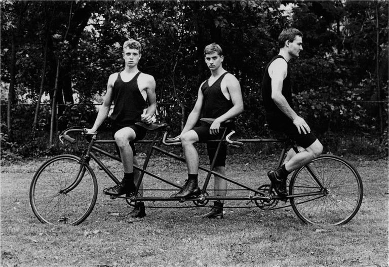 Luke Smalley Black and White Photograph - Cyclists