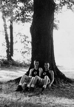 High School Wrestlers Against Tree