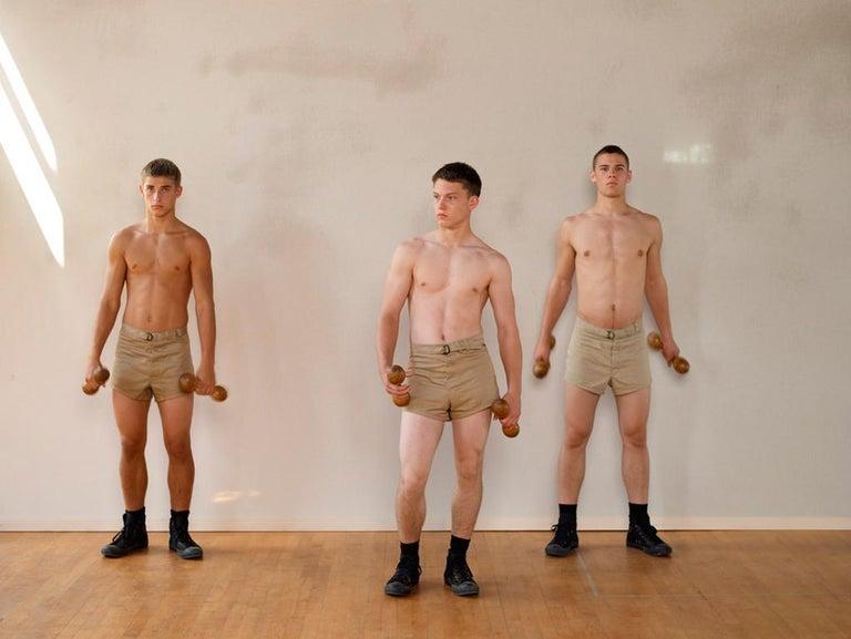 Luke Smalley Portrait Photograph - Wooden Dumbbells