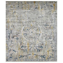 Hand Knotted  - silk rug - Lully Cytisus, Edition Bougainville