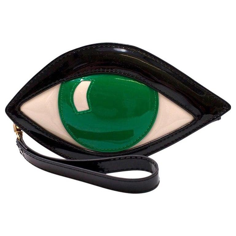 Lulu Guinness Emerald Eye Clutch For Sale