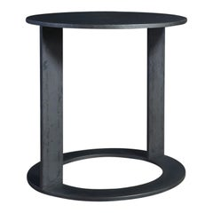 LUMA Design Workshop Block Occasional Table in Black Shale Metal Pitting Texture