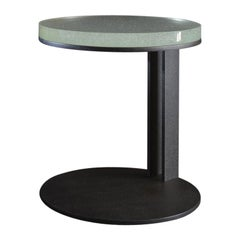 LUMA Design Workshop Float Occasional Table with Blackened Quartz & Cast Glass