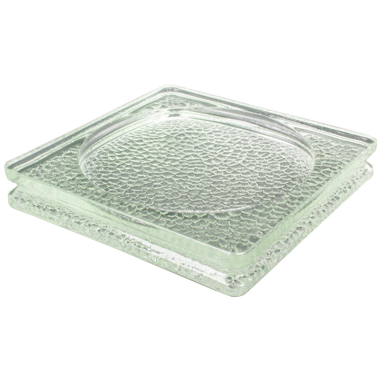 Lumax Nevada Glass Desk Tidy Catchall Ashtray by Le Corbusier